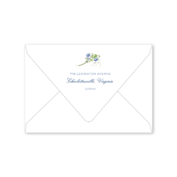 Hydrangea Wreath Folded Notecard Envelopes
