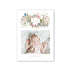 Spring Wreath Birth Announcement