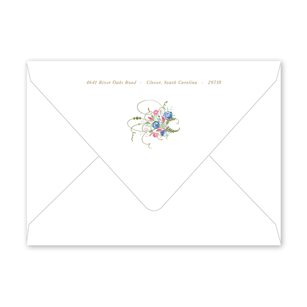 Spring Wreath Birth Announcement Envelopes