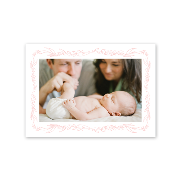 Floral Blush Birth Announcement