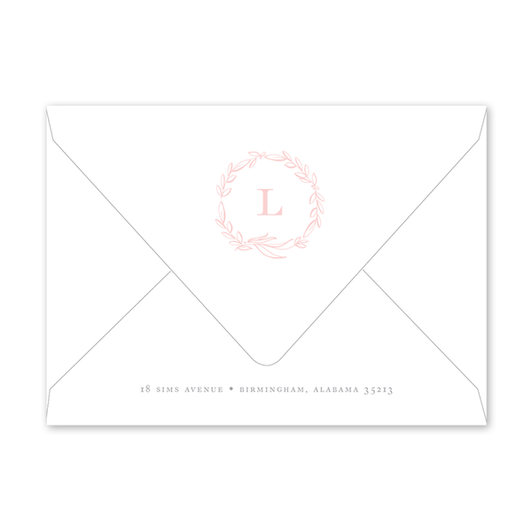 Floral Blush Birth Announcement Envelopes