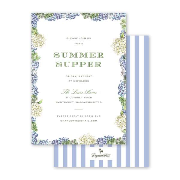 Blue Hydrangea Dinner/Party