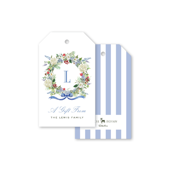 Blue Hydrangea Christmas Gift Tags