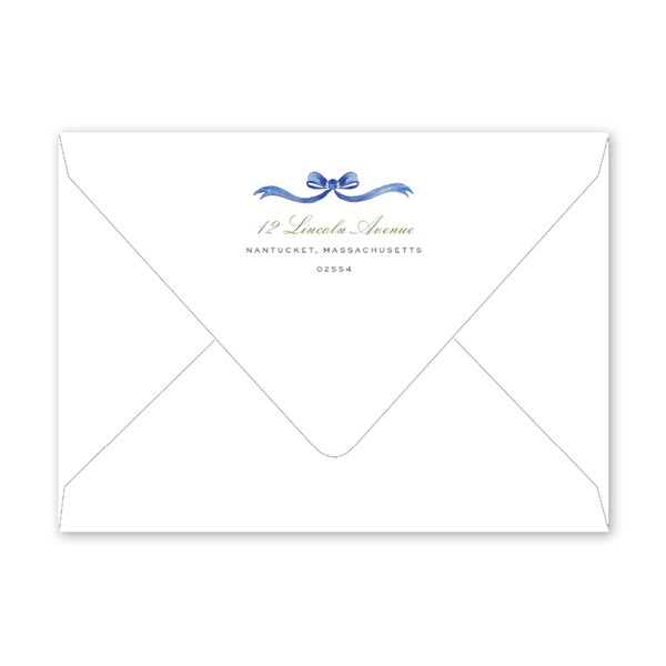 Blue Hydrangea Bridal Shower Envelopes