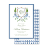 Blue Topiary Crest Bridal Shower