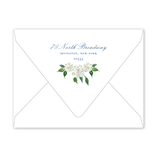 Blue Topiary Moving Announcement Envelopes
