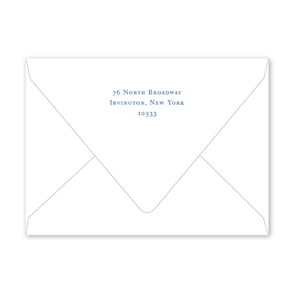 Blue Topiary Crest Party Envelopes