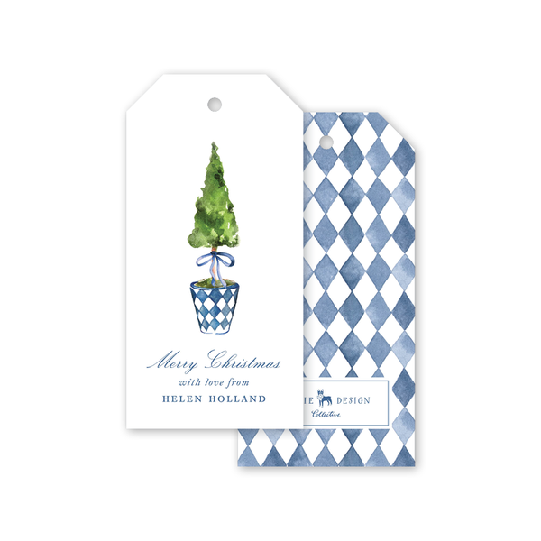 Blue Topiary Gift Tags