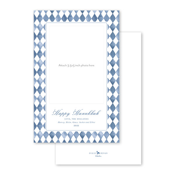 Blue Topiary Hanukkah Photo Mount