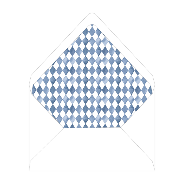 Blue Topiary Invitation Liner