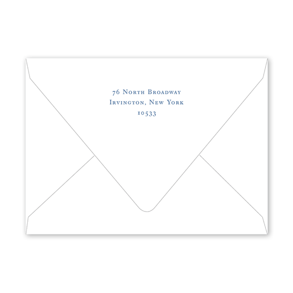 Blue Topiary Notecard Envelopes