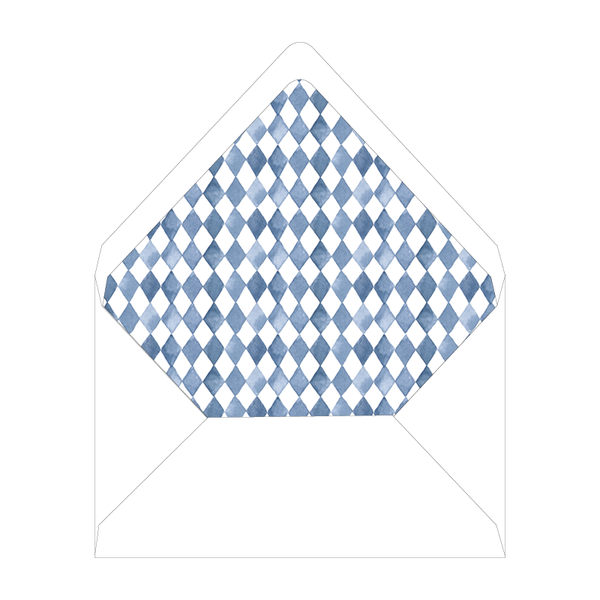 Blue Topiary Notecard Liner
