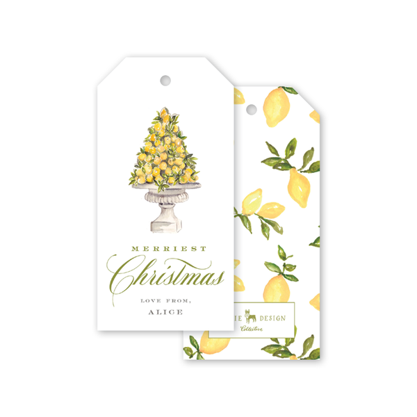 Christmas Lemon Gift Tags