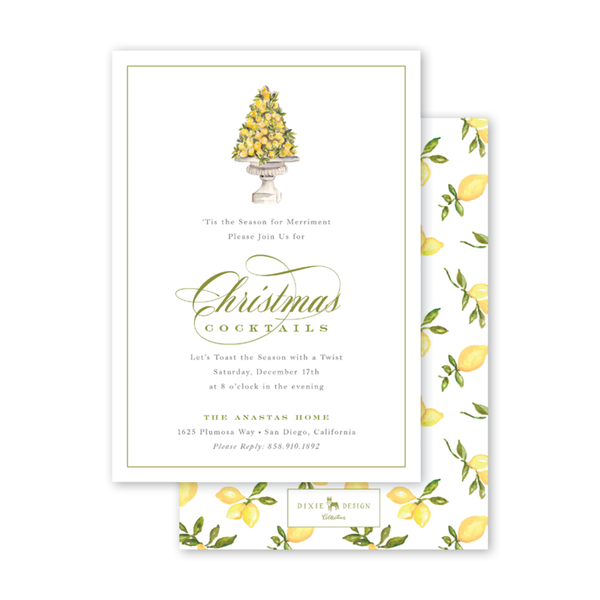 Christmas Lemon Invitation