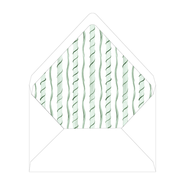Merry Green Topiary Invitation Liner