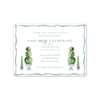 Merry Green Topiary Invitation
