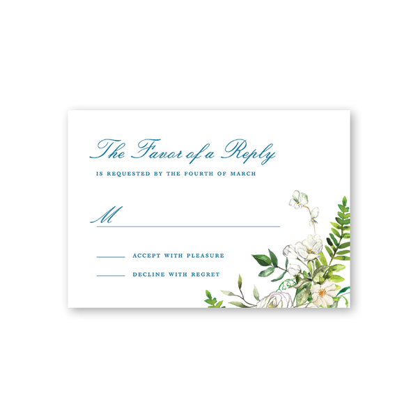 Winchester Floral Reply Card