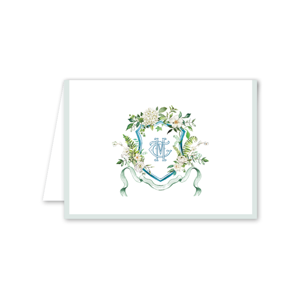 Winchester Crest Folded Notecard