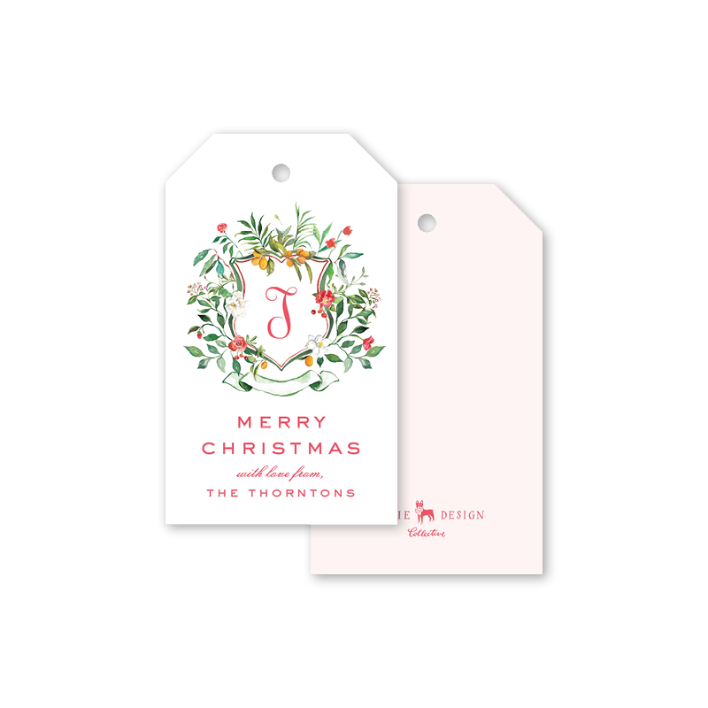 Kumquat Christmas Crest Gift Tags