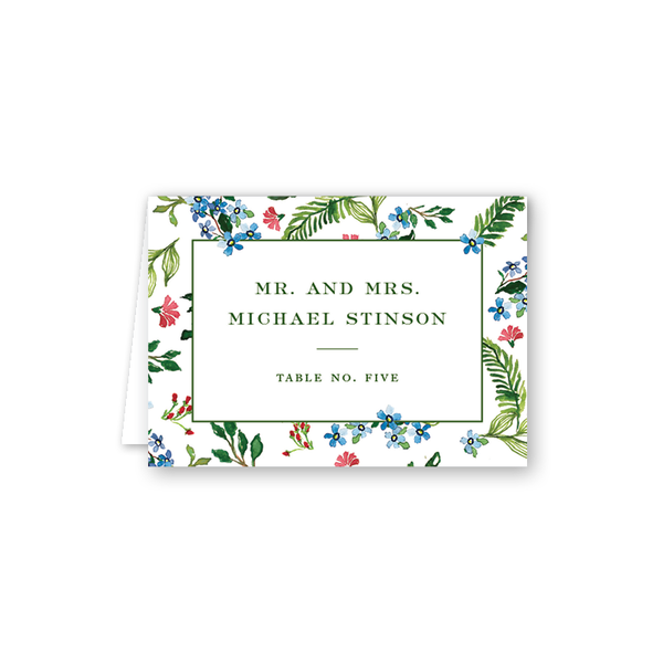 Jardin Border Escort Card