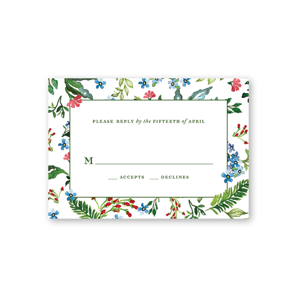 Jardin Border Reply Card