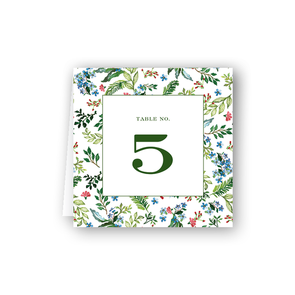 Jardin Table Numbers