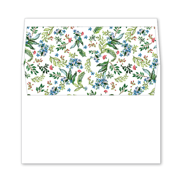 Jardin Wedding Invitation Envelope Liner