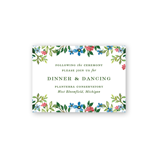 Jardin Floral Reception Card