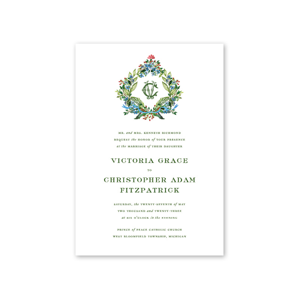 Jardin Crest Wedding Invitation