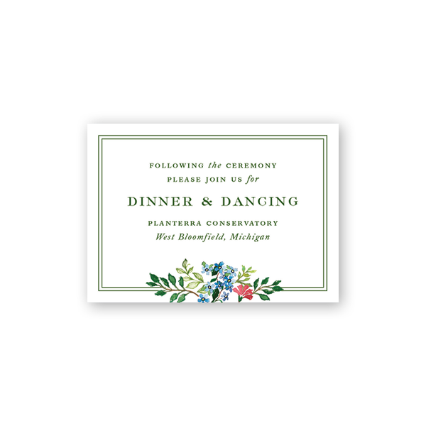 Jardin Reception Card