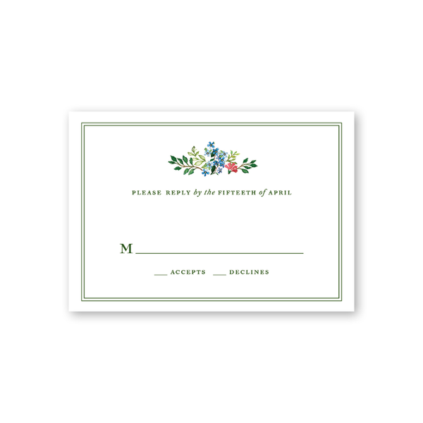 Jardin Reply Card