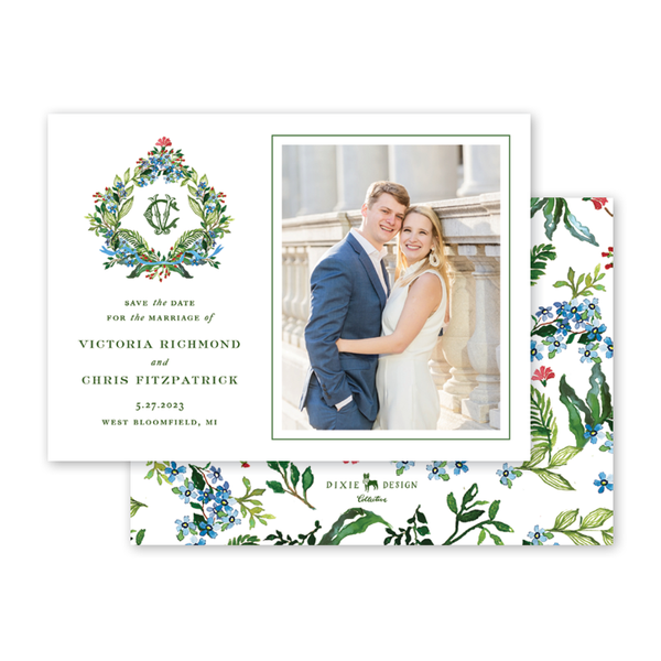 Jardin Crest Save The Date with Photo