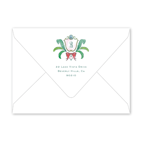 Beverly Hills Crest Invitation Envelopes