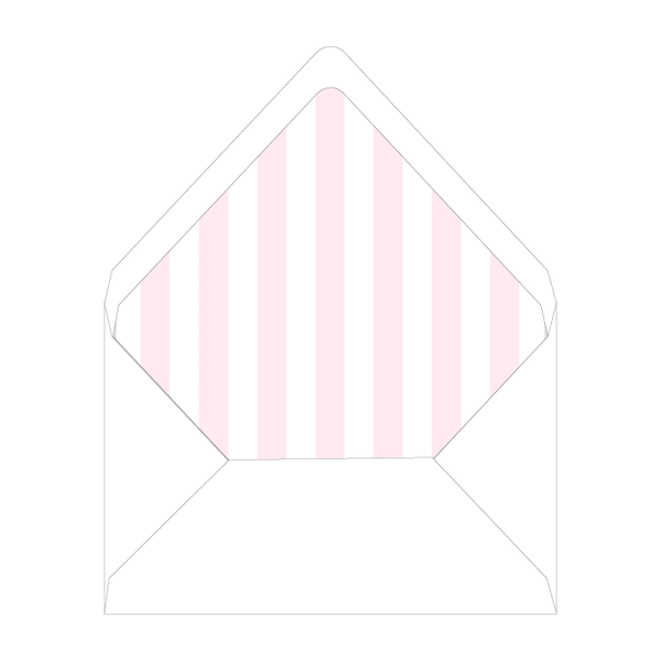 Beverly Hills Crest Invitation Stripe Liner