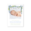 Angel Garland Blue Birth Announcement