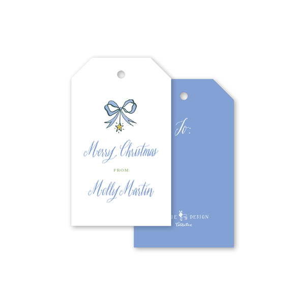 Angel Garland Blue Bow Gift Tags