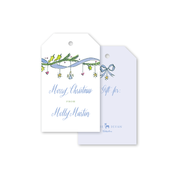 Angel Garland Blue Gift Tags