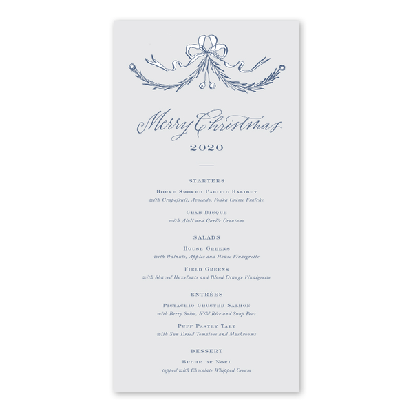Provencial Garland Blue Menu