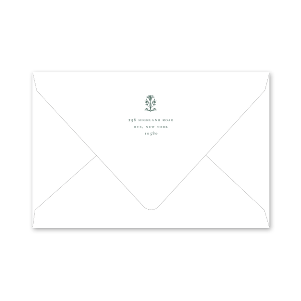 Burnett Christmas Crest Dinner/Party Envelopes