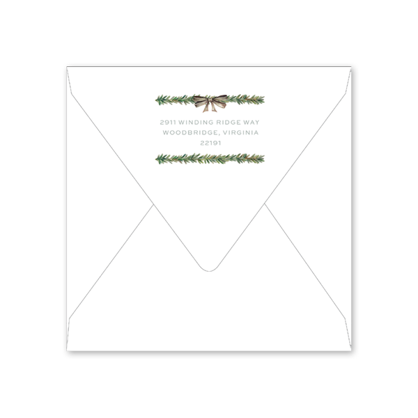 Rosemary Wreath Envelopes