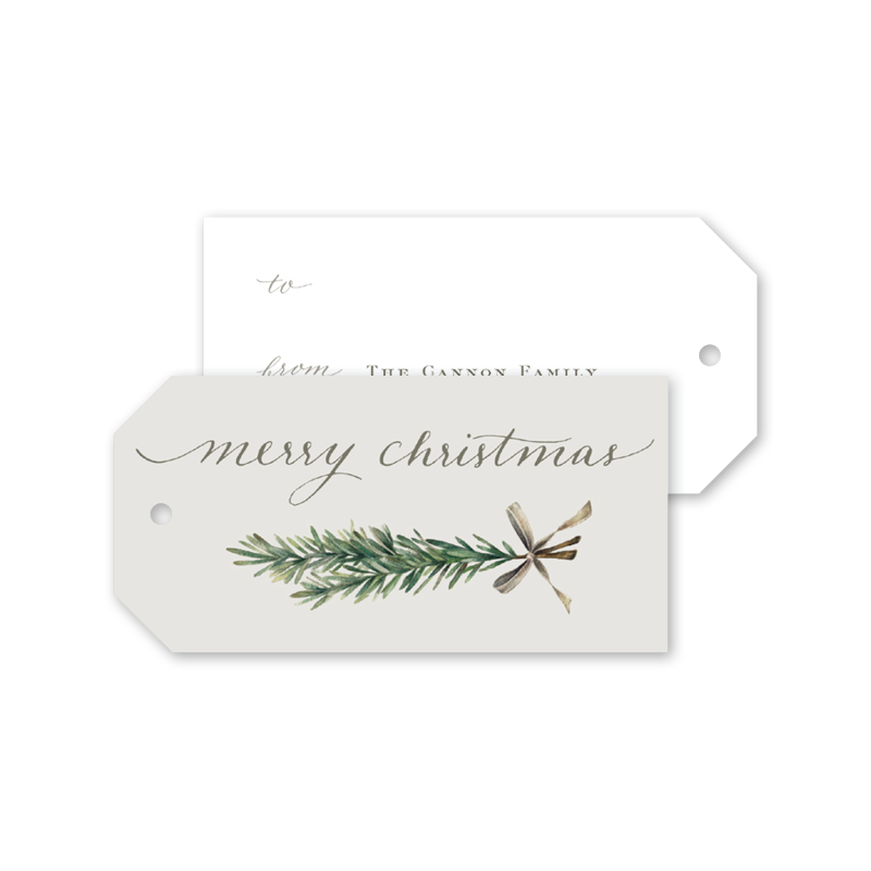Seasonal Sprig Gift Tags