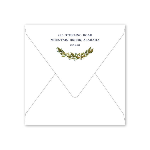 Botanic Wreath Invitation Envelopes