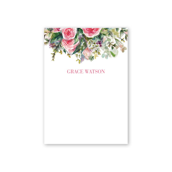 Modern Rose Notepad