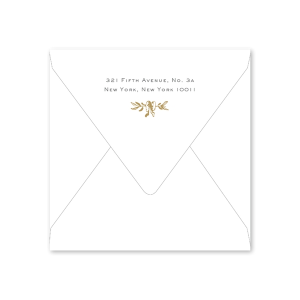 Gold Wreath Border Envelopes