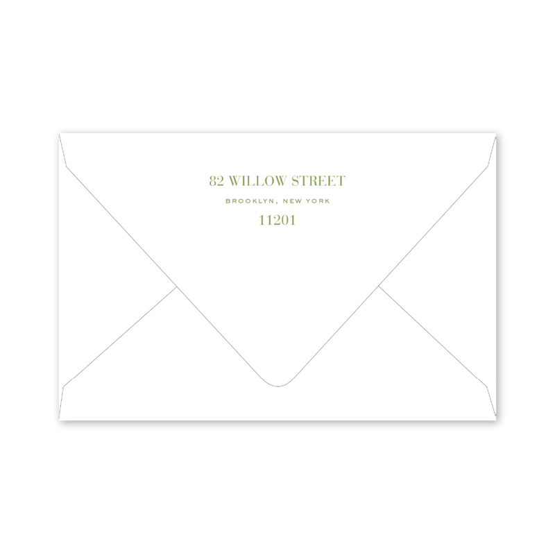 Christmas Botanical Invitation Envelopes