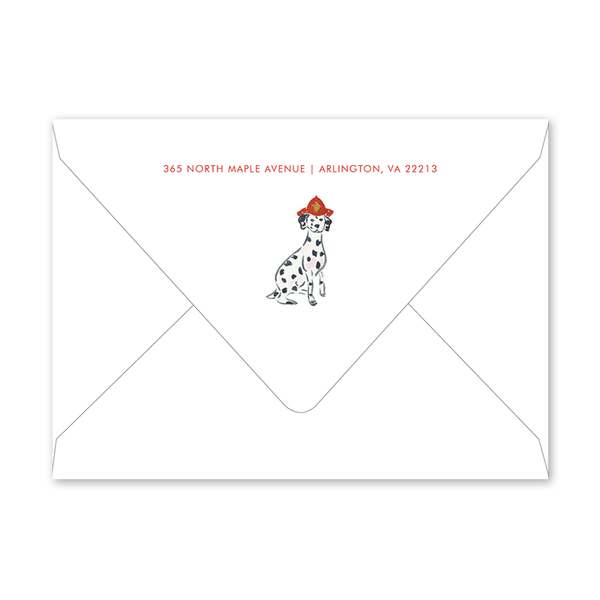 Firetruck Birthday Envelopes