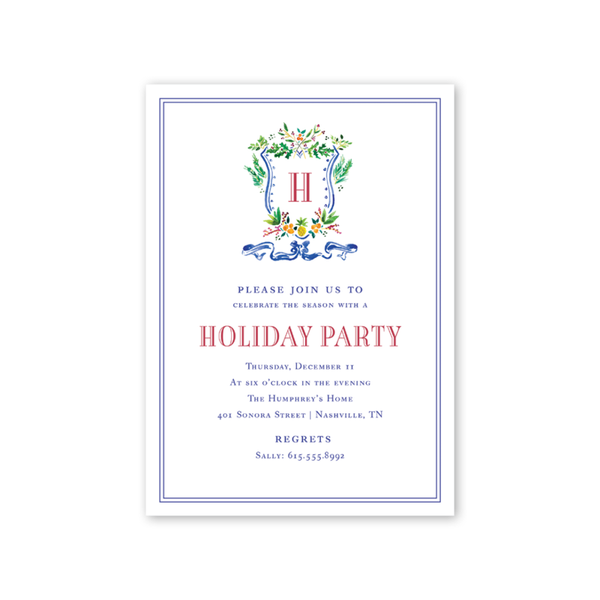Holiday Crest Invitation