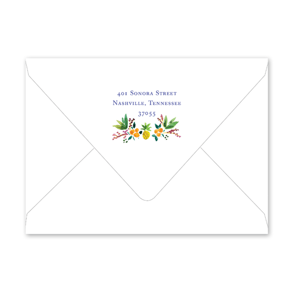 Holiday Crest Invitation Envelopes