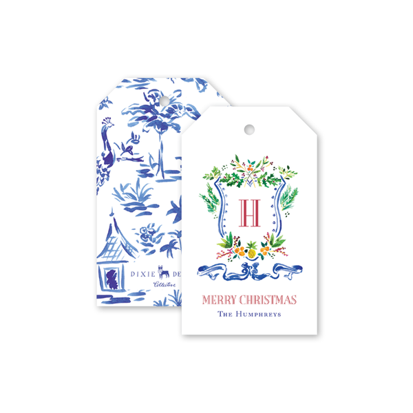 Holiday Crest Gift Tags