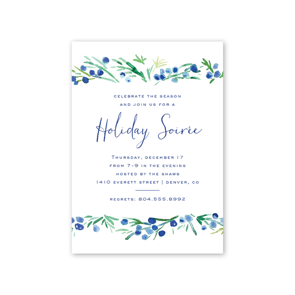 Juniper Berries Invitation